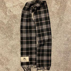 Burberry Black & Grey Wool Scarf